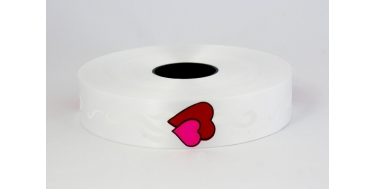 """PP PRINTED RIBBON WITH """"TWO HEARTS"""" PATTERN"""