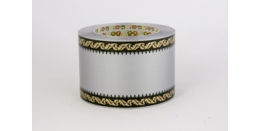 """PP FUNERAL PRINTED RIBBON WITH """"GOTHIC"""" PATTERN"""