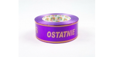 """PP FUNERAL RIBBON WITH INSCRIPTION """"OSTATNIE POZEGNANIE"""" WITH GOLDEN STRIPES - PATTERN 2"""