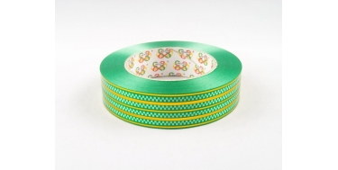 """PP RIBBON WITH """"COBBLESTONE"""" PATTERN WITH GOLDEN STRIPES"""