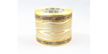 """PP FUNERAL RIBBON WITH """"BARK"""" PATTERN WITH GOLDEN STRIPES"""