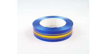 PP RIBBON WITH 3 GOLDEN STRIPES