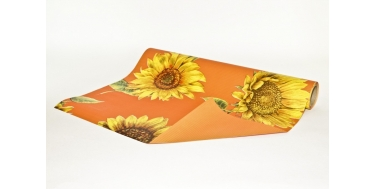 """DECORATIVE CORRUGATED WRAPPING PAPER WITH """"SUNFLOWER"""" PATTERN"""