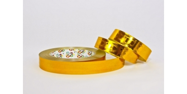 """PP METALLIC RIBBON WITH """"HEARTS"""" PATTERN"""