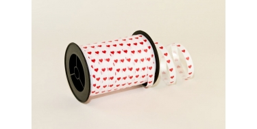 """PP PRINTED RIBBON WITH """"HEARTS"""" PATTERN"""