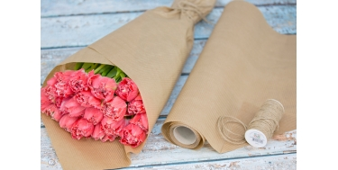NATURAL DECORATIVE CORRUGATED WRAPPING PAPER