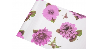 """DECORATIVE CORRUGATED WRAPPING PAPER WITH """"PEONY"""" PATTERN 50cm/10m"""